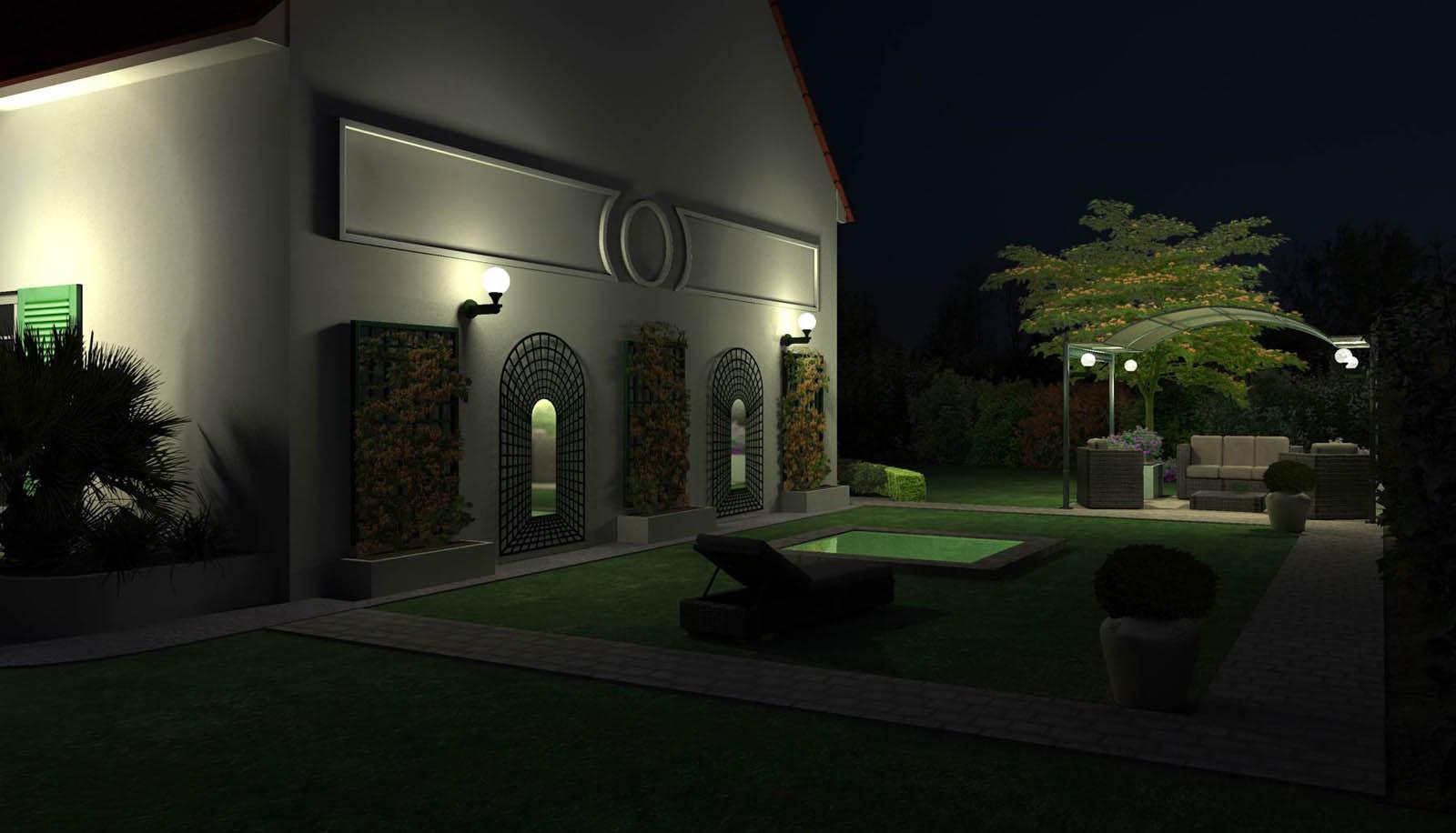 Eclairage jardin 3d for Eclairage jardin