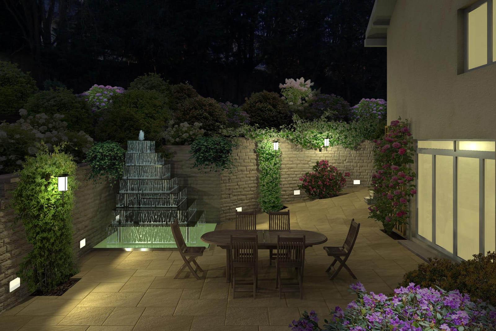 Eclairage jardin 3d for Eclairage d un jardin