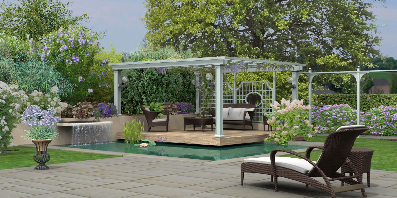 Hortus3d cr ation de plans de jardin 3d en r alit virtuelle for Dessiner son jardin paysager