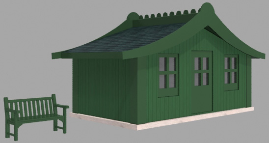 abris de jardin 3d. Black Bedroom Furniture Sets. Home Design Ideas