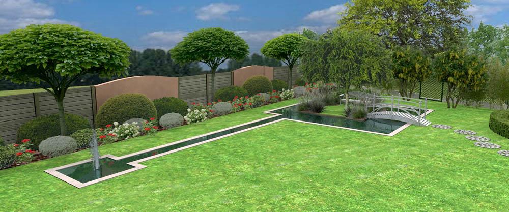Conception 3D de jardin par bureau d'étude Bassin d'Arcachon  Jardins Eden