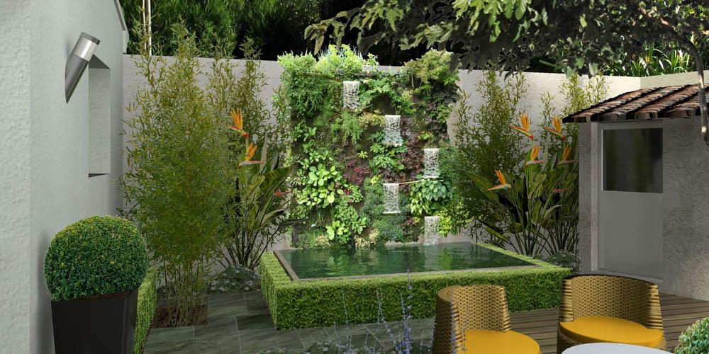 Bassins de jardin 3d for Bac a bassin de jardin