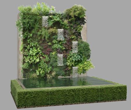 Bassins de jardin 3d for Bassin de jardin algues vertes