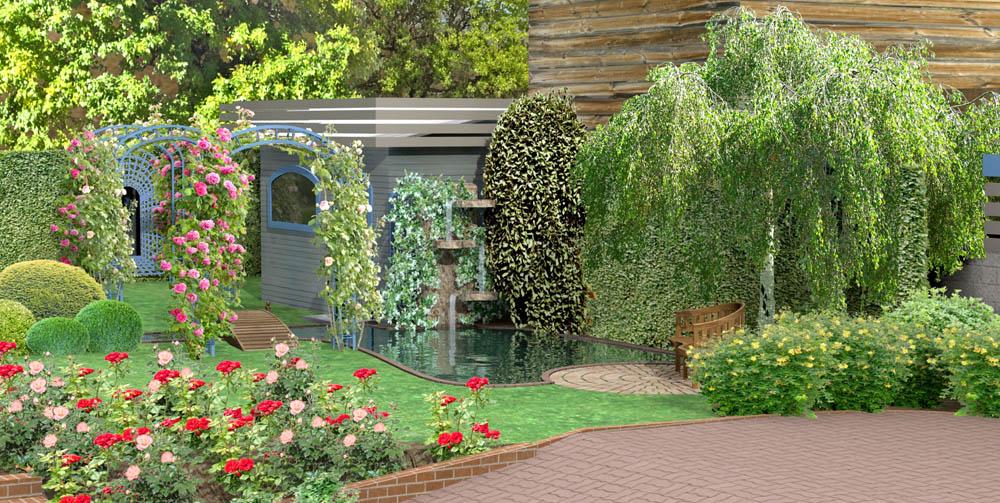 Bassins de jardin 3d for Bassin de jardin villaverde