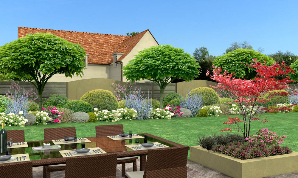 Cloture jardin 3d for Conception de jardin 3d