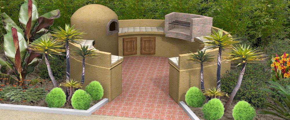 cuisine d 39 t 3d. Black Bedroom Furniture Sets. Home Design Ideas