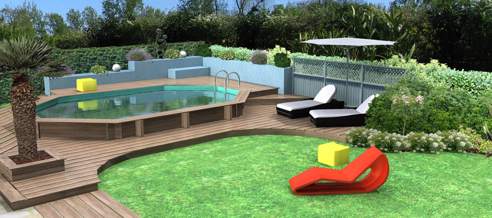 Projets de piscines en 3d - Local technique piscine hors sol ...