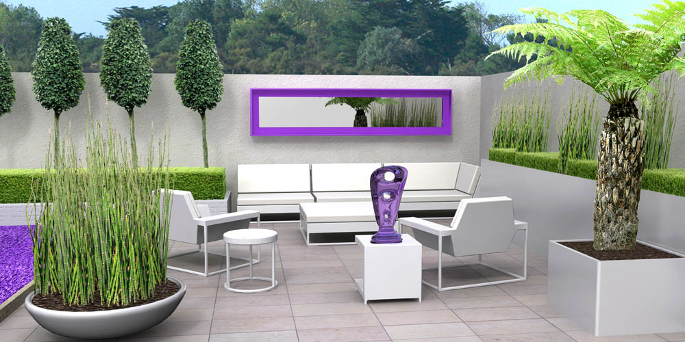 Coins salon au jardin en 3d for Idee couleur salon de jardin